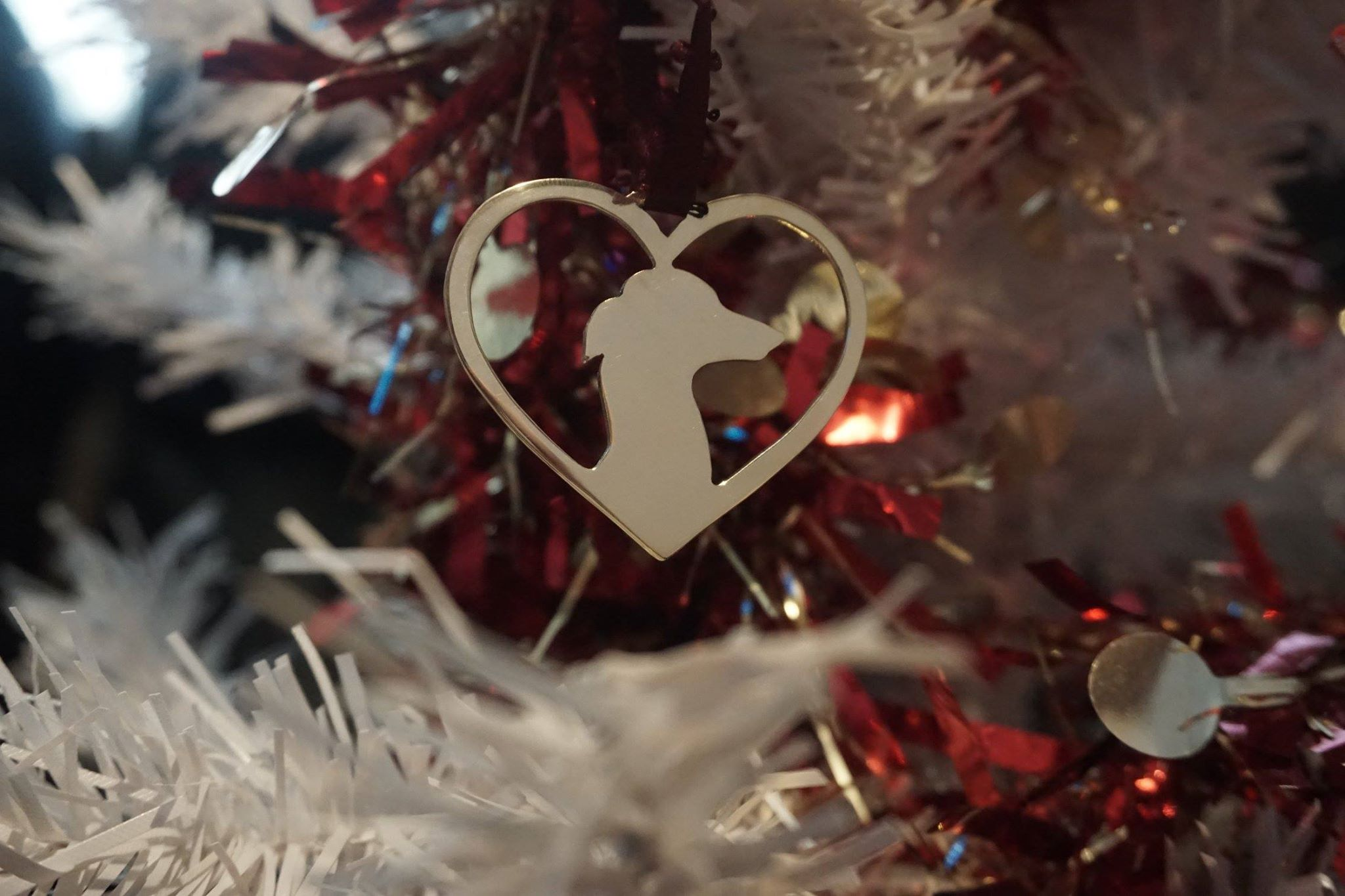 Christmas Heart.Christmas Dog In Your Heart Any Breed Brass Copper Or Aluminium