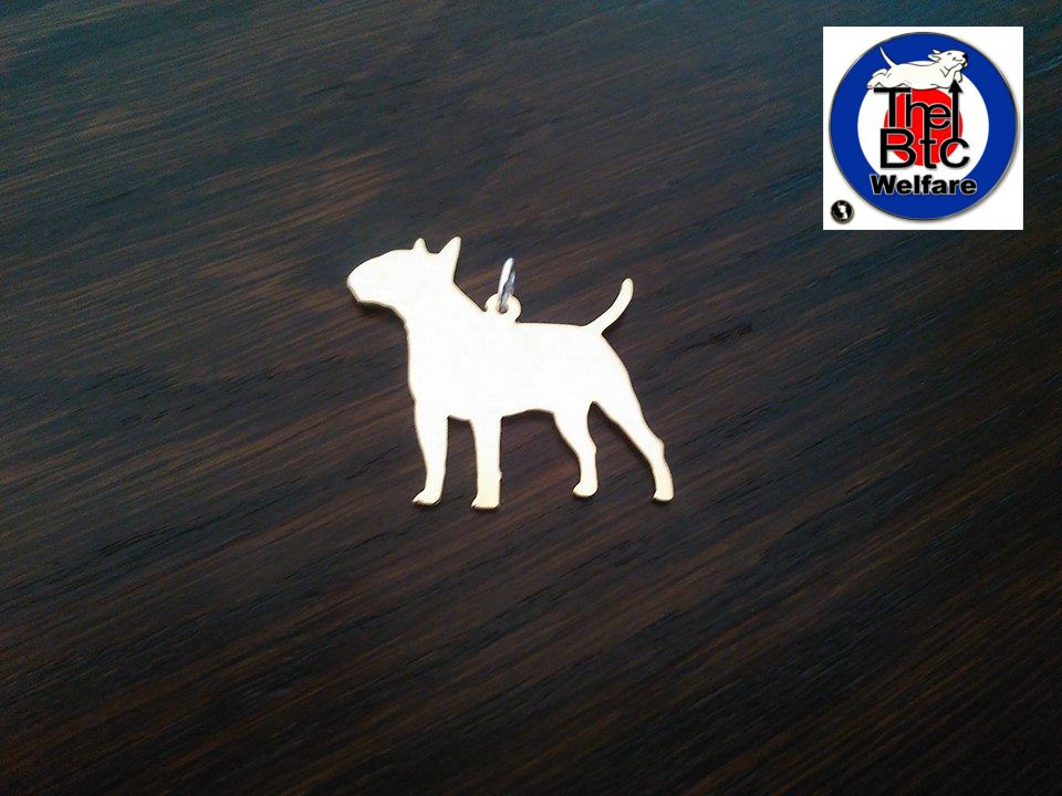 English Bull terrier available as charm pendant or keyring The Bull Terrier Club (UK) Welfare Trust