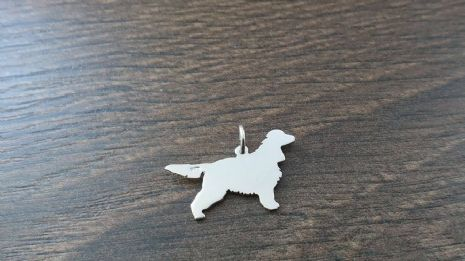 English Cocker Spaniel Charm silhouette solid sterling silver caroline howlett design