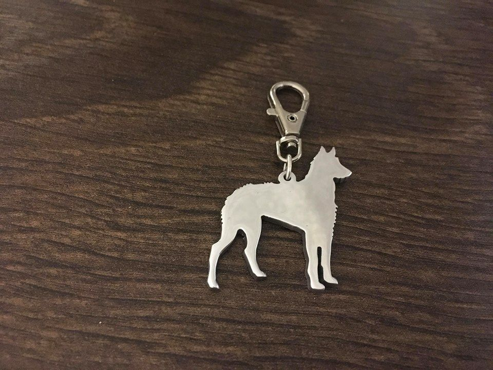 Ibizan Hound Wirehaired 3.5cm Keyring  handmade by saw piercing